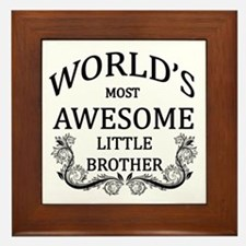 World's Most Awesome Little Brother Framed Tile