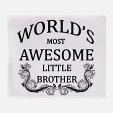 World's Most Awesome Little Brother Throw Blanket