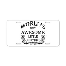 World's Most Awesome Little Brother Aluminum Licen