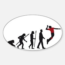 evolution volleyball player Decal
