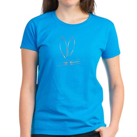 Watercolor Bunny Women's Dark T-Shirt