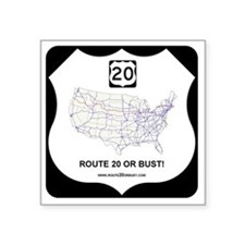 "RT20ORBUSTLOGO Square Sticker 3"" x 3"""