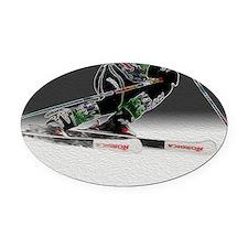 D1368-038crop-art Oval Car Magnet