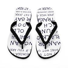 CANCER DOESNT DISCRIMINATE (NAVY) Flip Flops