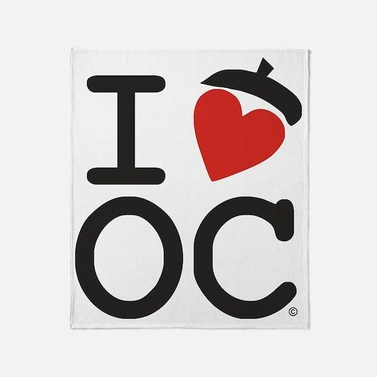 I Heart OC Throw Blanket