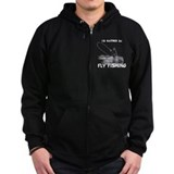 Fly fishing Zip Hoodie (dark)