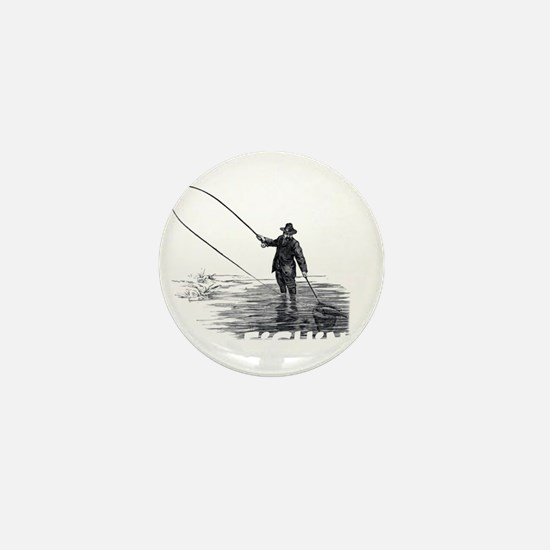 Fly Fishing Mini Button