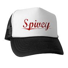 Spivey, Vintage Red Trucker Hat
