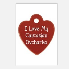 Love My Caucasian Postcards (Package of 8)