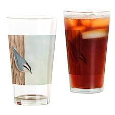 Nuthatch Sticky Note Drinking Glass