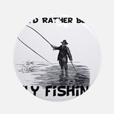 Fly Fishing Round Ornament