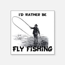 """Fly Fishing Square Sticker 3"""" x 3"""""""