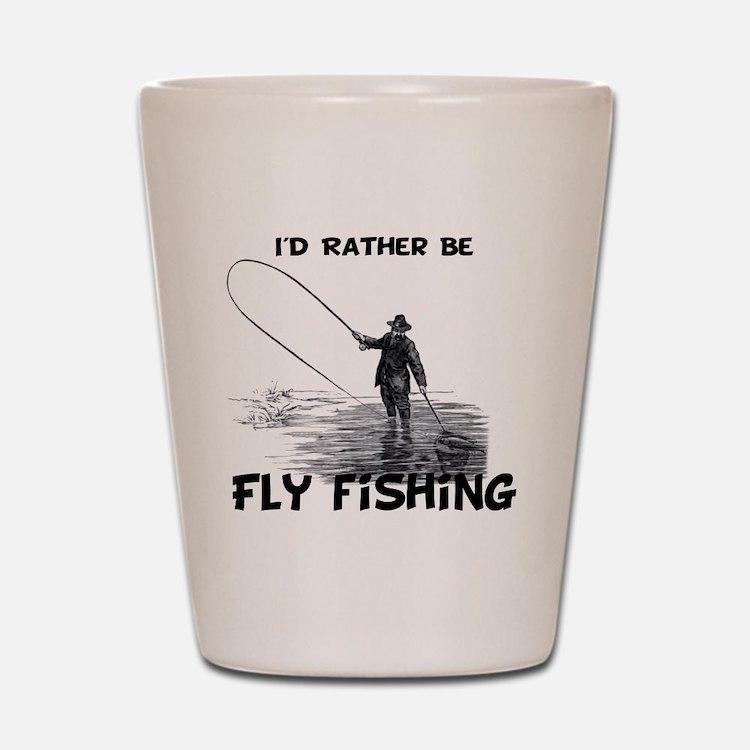 Fly Fishing Shot Glass