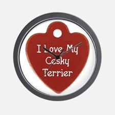 Love My Cesky Wall Clock