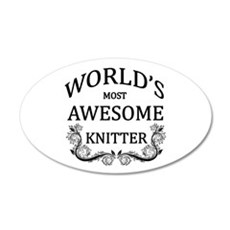World's Most Awesome Knitter Wall Decal