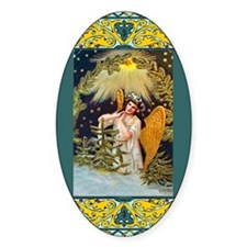 Vintage Christmas angel Decal