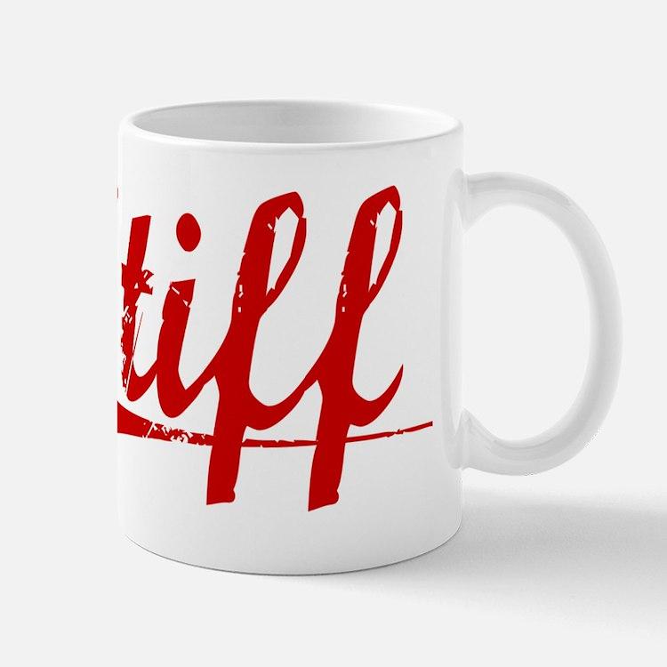 Stiff, Vintage Red Mug