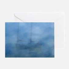 Ship in the fog Greeting Card