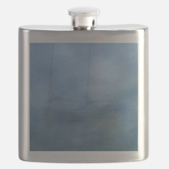 Ship in the fog Flask