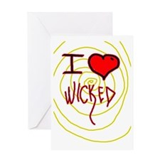 i love wicked heart Greeting Card