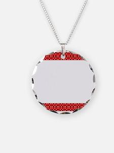 Chic Red Black Designer Necklace