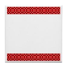 Chic Red Black Designer Tile Coaster