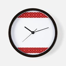Chic Red Black Designer Wall Clock