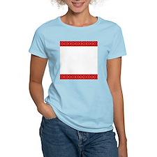 Chic Red Black Designer T-Shirt
