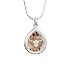 The Official Logo Silver Teardrop Necklace