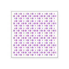 """Violet Dots Shapes Designer Square Sticker 3"""" x 3"""""""