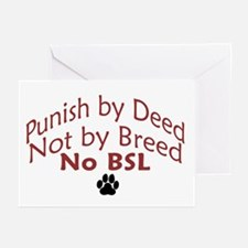 Punish by Deed Greeting Cards (Pk of 10)