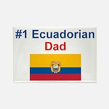 #1 Ecuadorian Dad Rectangle Magnet