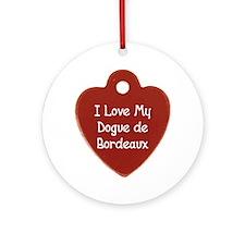 Love My Dogue Ornament (Round)