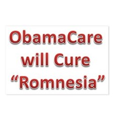 ObamaCare will cure Romne Postcards (Package of 8)