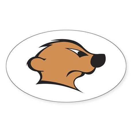 The Mighty Meerkat Oval Sticker