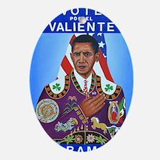 New Obama Artwork Oval Ornament