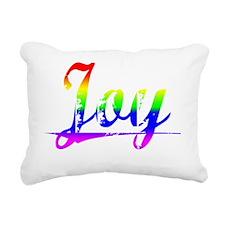 Joy, Rainbow, Rectangular Canvas Pillow
