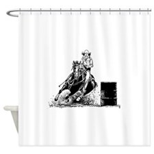 Barrel Racing Shower Curtain