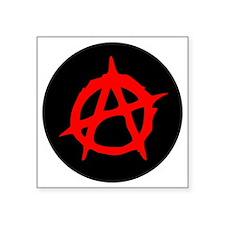 "Anarchy A Square Sticker 3"" x 3"""