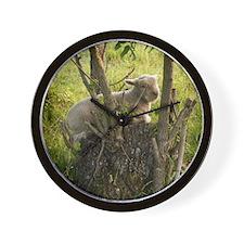 King of the Stump Wall Clock