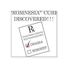 """Romnesia Prescription Light Square Sticker 3"""" x 3"""""""