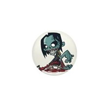 Bloody Zombie Mini Button