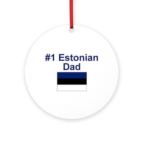 Estonian #1 Dad Keepsake Ornament