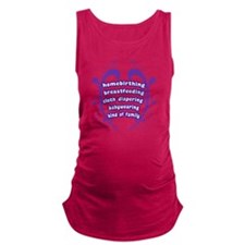 Crunchy Family Maternity Tank Top