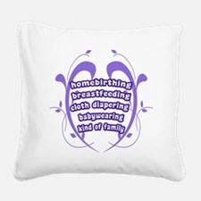 Crunchy Family Square Canvas Pillow