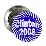 Clinton 2008 Spiral Button