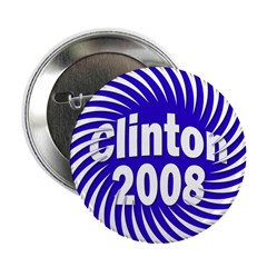 Clinton 2008 Spiral Button