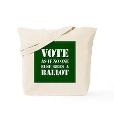 VOTEasifnooneelsegetsaBALLOT-round Tote Bag