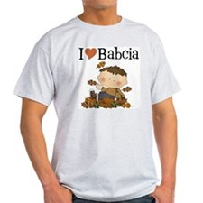 Autumn Boy I Love Babcia T-Shirt