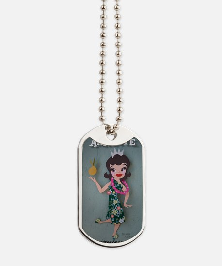 Pineapple Princess Annette Dog Tags